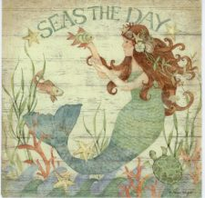 Paper Napkins Mermaid Seas the Day