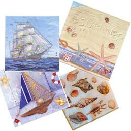 Repurposed-boxnapkins-sea