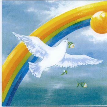 Paper Napkins Rainbow and Dove Gods Covenant
