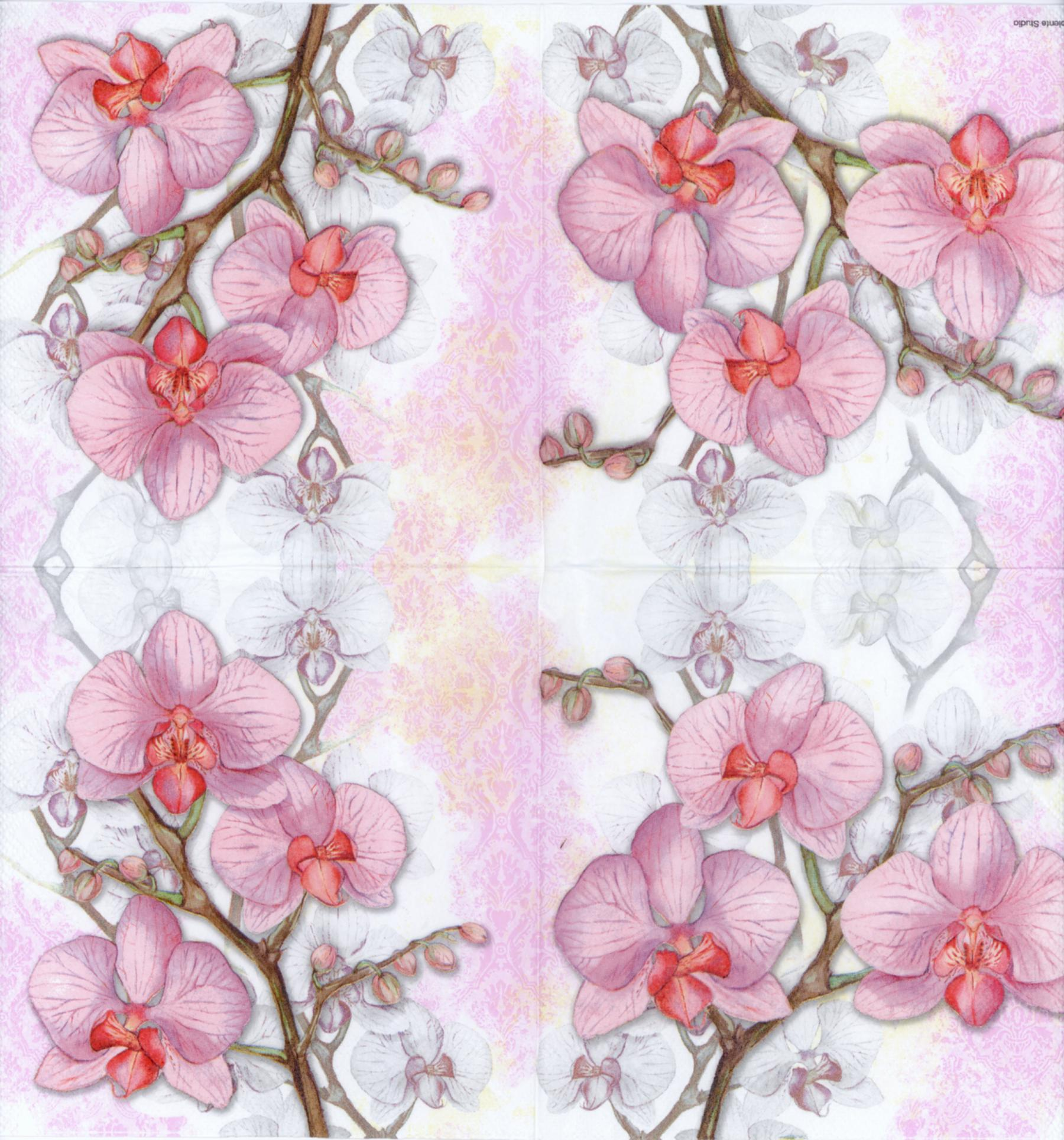 Decorative paper napkins of pink orchid luncheon napkins for decorative paper napkins of pink orchid luncheon napkins for decoupage tropical flower paper napkins mightylinksfo