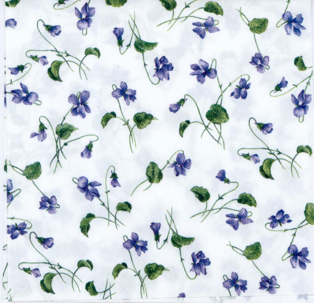 Decorative Paper Napkins Of Viola Tiny Luncheon Blue Little