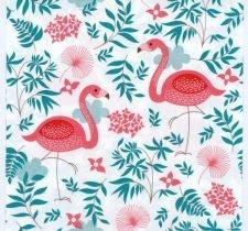 Paper Napkins Pink Flamingo Pair