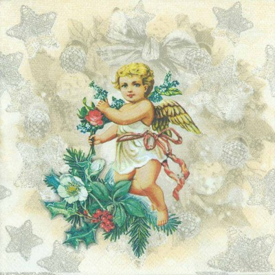 Decoupage Paper of  Christmas Angel Napkins