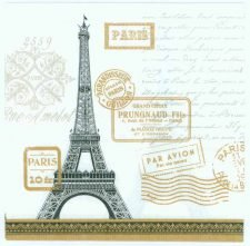 Decoupage Napkins of Eiffel Tower Rendezvous