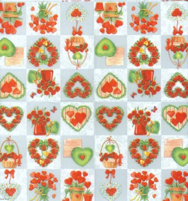 Decoupage Paper of  Hearts and Roses Napkins