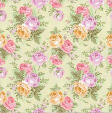 Decoupage Paper of  Pink Yellow Purple Roses Napkins