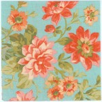 Decoupage Napkins of Pink and Red Dahlias