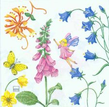 Decoupage Paper of Summer Garden of Fairies Napkins