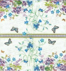 Decoupage Napkins of Wild Flower Garden Butterflies Music