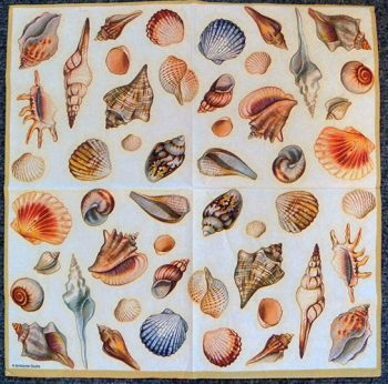 Decoupage Paper Art Napkin - Sea Shell Collection