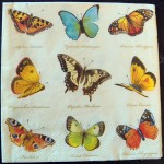 Decoupage Paper Art Napkin - Vintage Butterfly Collection