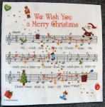 Decoupage Paper Art Napkin - We Wish You a Merry Christmas Music