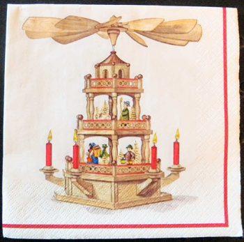 Decoupage Paper Art Napkin- Christmas Pyramide