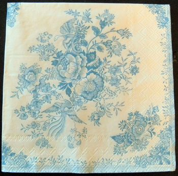 Decoupage Paper Art Napkin | Asiatic Pheasant Porcelain Pattern