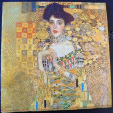 Decoupage Paper Art Napkin | Portrait of Adele Bloch-Bauer by Gustav Klimt