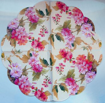 Decoupage Paper Art Napkin | Summer Flowers