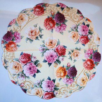 Decoupage Round Paper Art Napkin - Rose Symphony