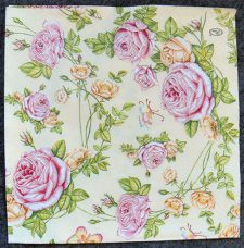 Decoupage Paper Art Napkin | Roses From My Garden