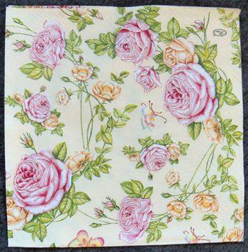 Decoupage Paper Art Napkin | Roses From My Garden