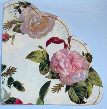 Decoupage Round Paper Art Napkin - Rose Ensemble