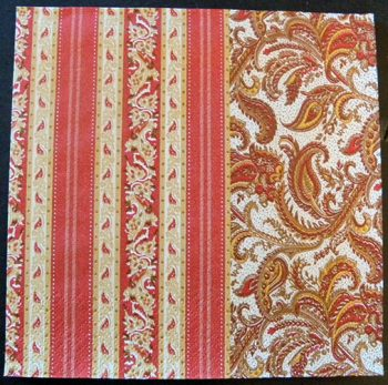 Decoupage Paper Art Napkin | Stripes Pattern