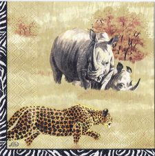 Decoupage Paper Art Napkin | African Wildlife