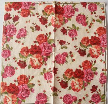 Decoupage Paper Art Napkin | Shower of Roses