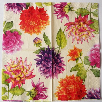 Decoupage Paper Art Napkin | Chrysanthemums