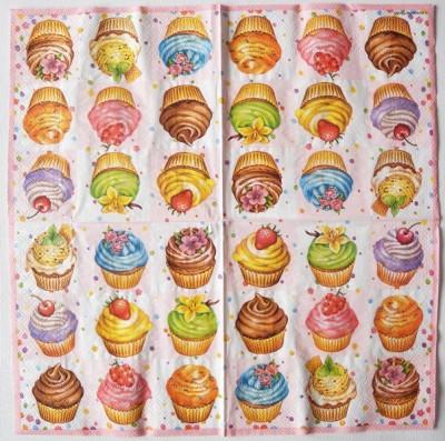 Decoupage Paper Art Napkin | Cupcake Potpourri