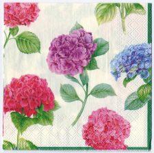 Decoupage Paper Art Napkin | Hydrangea Quintet