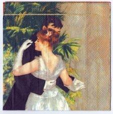 Decoupage Paper Art Napkin | Renoir's La Danse à la Ville
