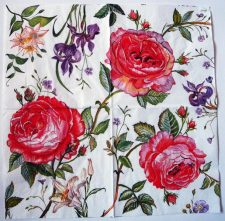 Decoupage Paper Art Napkin | Rosy Red Rose