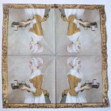 Decoupage Paper Art Napkin   Chocolate Maiden