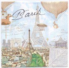 Decoupage Paper Art Napkin | Paris by Air