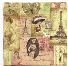 Decoupage Paper Art Napkin | Paris Ladies