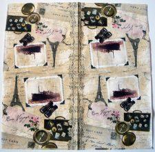 Decoupage Paper Art Napkin   Bon Voyage