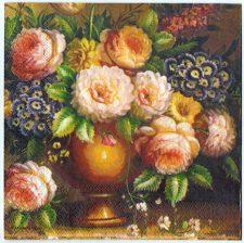 Decoupage Paper Art Napkin | Floral Still Life
