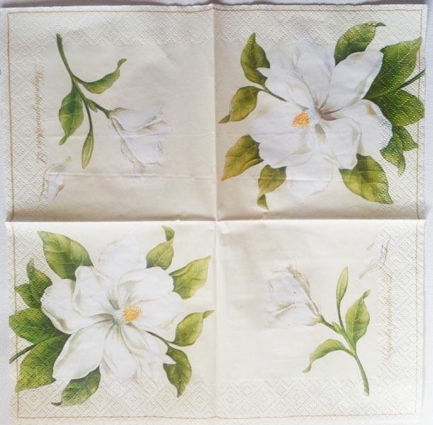 Decoupage Napkins Of Magnolias Chiarotino