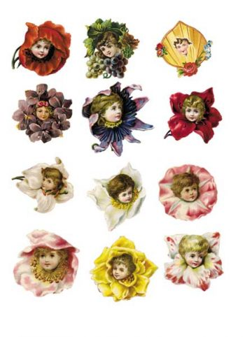 Decoupage Instant Download | Flower Babies