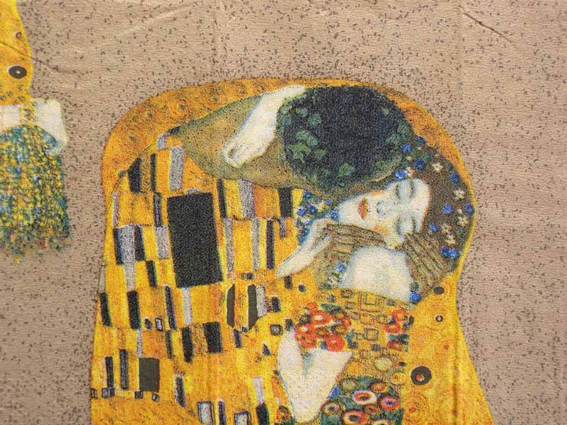 decoupage napkins of gustav klimt s der kuss the kiss on gold. Black Bedroom Furniture Sets. Home Design Ideas