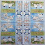 Decoupage Paper Art Napkin | Seagulls at the Seaside