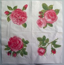 Decoupage Paper Art Napkin | Quartet of Roses