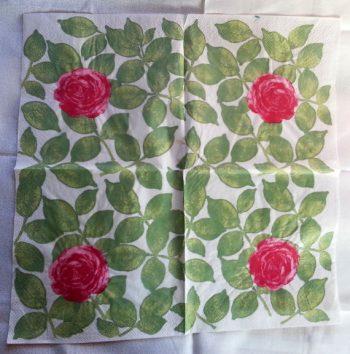 Decoupage Paper Art Napkin   Rose Solitaire