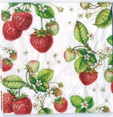 Decoupage Paper Art Napkin | Strawberries