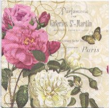 Decoupage Paper Art Napkin | More Paris Roses and a Perfumery