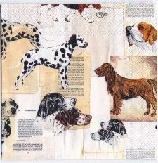 Decoupage Paper Art Napkin | Dog Breeds Collection