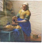 Decoupage Paper Art Napkin | The Milkmaid by Vermeer