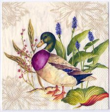 Decoupage Paper Art Napkin | Wild Ducks