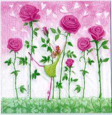 Decoupage Paper Art Napkin Rose Garden Dance