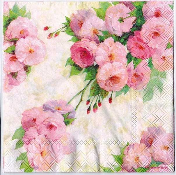 Decoupage Paper Napkins of Arianna Roses Rose Napkins